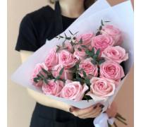 15 розовых роз (Эквадор)