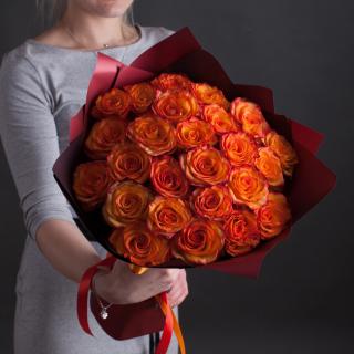 25 оранжевых роз (Эквадор)