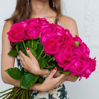 25 розовых роз (Эквадор)