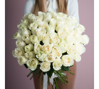 51 белая роза (Эквадор)