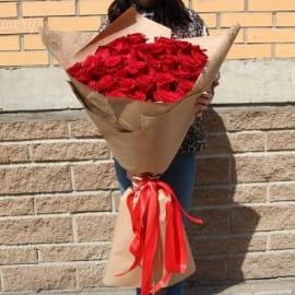 Букет из 31 красной розы 80 см (Эквадор)