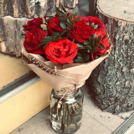 Букет из роз Алый