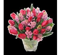 Букет из тюльпанов и гиацинтов #5