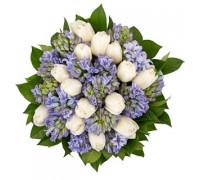 Букет из тюльпанов и гиацинтов #2