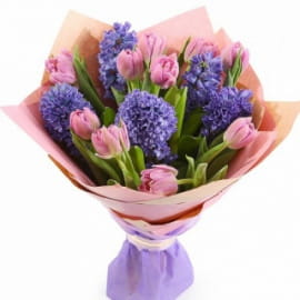 Букет из тюльпанов и гиацинтов #3
