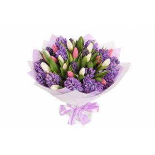 Букет из тюльпанов и гиацинтов #1