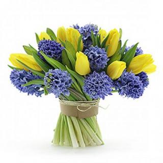 Букет из тюльпанов и гиацинтов #4