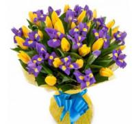 Букет из тюльпанов с ирисами #2
