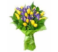 Букет из тюльпанов с ирисами #4