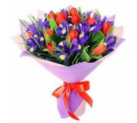 Букет из тюльпанов с ирисами #3