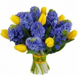 Букет из тюльпанов с гиацинтами
