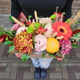Букет Осенняя композиция с тыквами