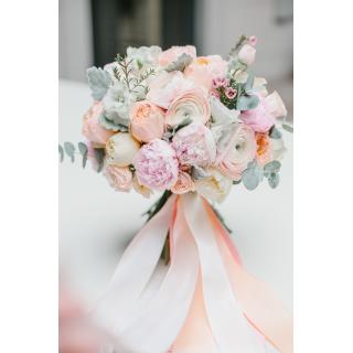 Пастельный свадебный букет