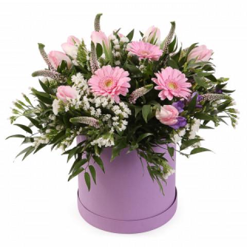 Шляпная коробка розовая страна