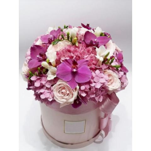 Шляпная коробка все оттенки розового