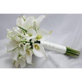 Свадебный букет из белых калл