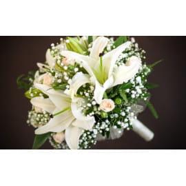 Свадебный букет из лилий