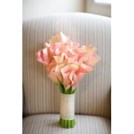 Свадебный букет розовая калла