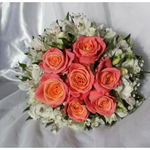 Свадебный букет с альстромерией