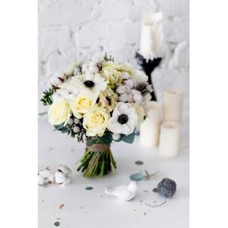 Свадебный букет с анемонами
