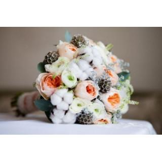 Свадебный букет снежная королева