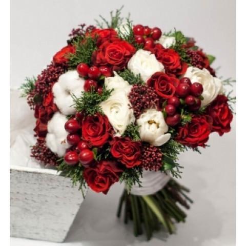 Свадебный букет зимняя красавица